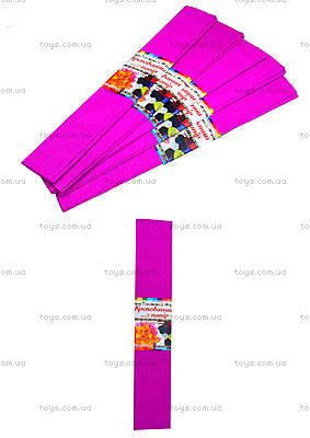 Цветная креповая бумага, бордовая, Ц380007У