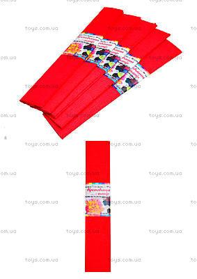 Цветная креповая бумага, красная, Ц380007У