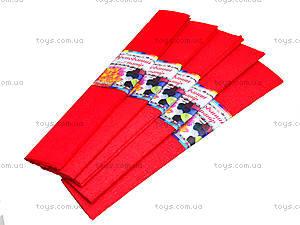 Цветная креповая бумага, красная, Ц380007У, отзывы