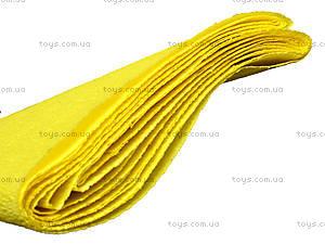Цветная крепированная бумага, желтая, Ц380007У, фото