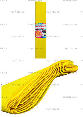 Цветная крепированная бумага, желтая, Ц380007У