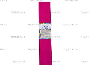 Цветная креповая бумага, малиновая, Ц380007У, фото