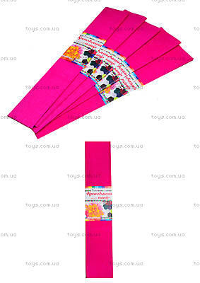 Цветная креповая бумага, малиновая, Ц380007У