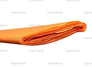 Цветная крепированная бумага, цвет морковый, Ц380007У, фото