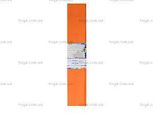 Цветная крепированная бумага, цвет морковый, Ц380007У, цена
