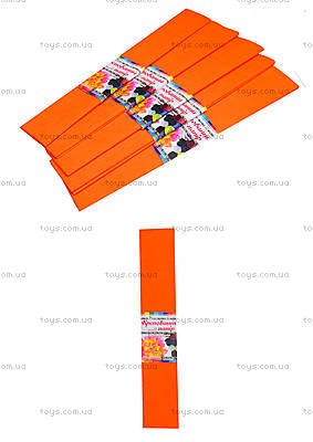 Цветная креповая бумага, оранжевый, Ц380007У