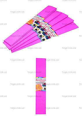 Цветная крепированная бумага, розовая, Ц380007У