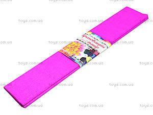 Цветная крепированная бумага, ярко-розовая, Ц380007У, купить