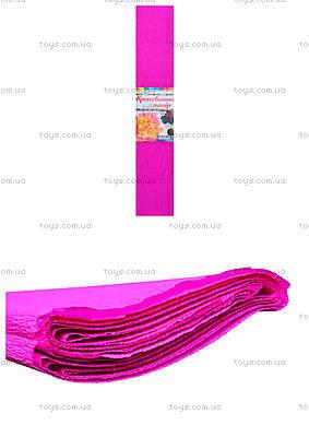 Цветная крепированная бумага, ярко-розовая, Ц380007У