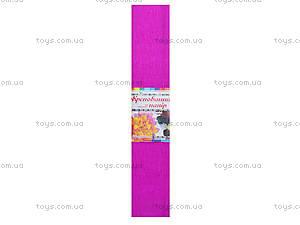 Цветная крепированная бумага, ярко-розовая, Ц380007У, цена