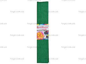 Цветная крепированная бумага, зеленая, Ц380007У, купить