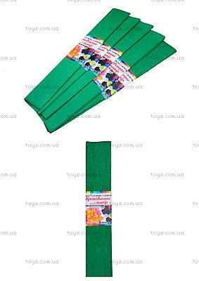 Цветная крепированная бумага, зеленая, Ц380007У
