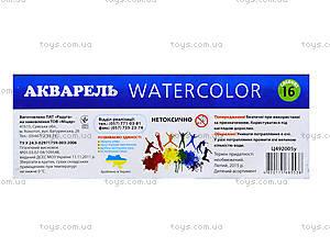 Краска акварельная «Луч», 16 цветов, Ц492005У, цена