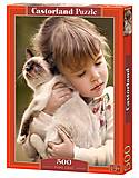 Castorland 500 «Девочка и кошечка», В-52943, отзывы