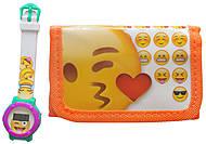 Часы цифровые с кошельком «Emojis», EMJ30658, фото