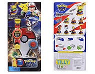 Часы-конструктор Pokemon GO с фигуркой, BT-PG-0013, toys.com.ua
