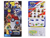 Часы-конструктор Pokemon GO с фигуркой, BT-PG-0013