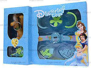Часы-конструктор Disney, с брелоком, 66040, игрушки