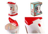 Чайник электрический, с эффектами, бело-красный, 8205