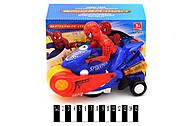 Человек-паук на мотоцикле со светом и звуком, 939, фото