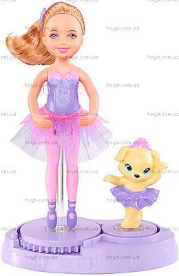 Кукла Челси с любимцем из м/ф «Барби: Розовые туфельки», X8816, фото