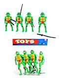 Детский набор «Черепашки-ниндзя», 2071-400, фото