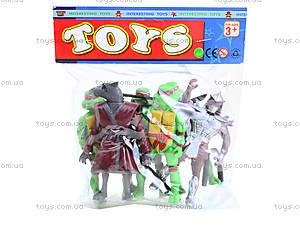 Герои из мультфильма «Черепашки-ниндзя», 6 штук , 2076-401, игрушки