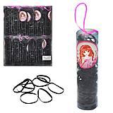 Черные резиночки для волос, силиконовые , 1375, отзывы