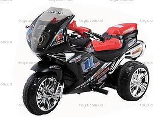 Черный электромотоцикл для детей, 3010372