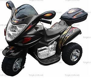 Черный мотоцикл с электродвижком, M-002