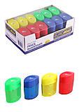 Точилка с контейнером, пластиковая цветные 12 шт. в уп., BM.4752