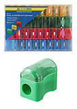 Набор пластиковых точилок с контейнером (36 шт в упаковке) разноцветные, BM.4716, магазин игрушек