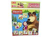 Цифры на магнитах «Маша и Медведь», 4201а, интернет магазин22 игрушки Украина
