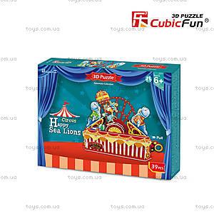 Объемный конструктор-головоломка «Цирк. Веселый морской лев», K1301h, фото