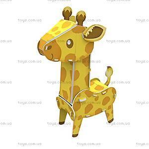 Объемный конструктор-головоломка «Дикие животные. Жираф», K1503h, купить