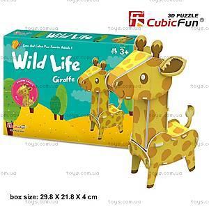 Объемный конструктор-головоломка «Дикие животные. Жираф», K1503h