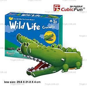 Объемный конструктор-головоломка «Дикие животные. Крокодил», K1502h