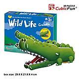 Объемный конструктор-головоломка «Дикие животные. Крокодил», K1502h, фото