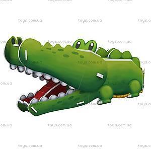 Объемный конструктор-головоломка «Дикие животные. Крокодил», K1502h, купить