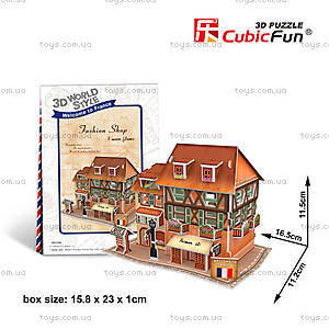Объемный конструктор-головоломка «Франция. Дом моды», W3119h