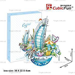 Объемный конструктор-головоломка «Городской пейзаж. Дубай», OC3202, купить
