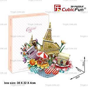 Объемный конструктор-головоломка «Городской пейзаж. Париж», OC3204, купить