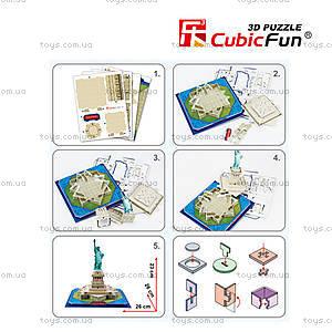Трехмерная головоломка-конструктор «Статуя Свободы», C02080, купить