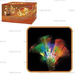 Цветная новогодняя LED - гирлянда с кисточками,
