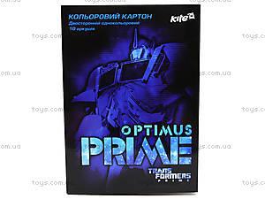 Цветной картон, А4 «Трансформеры», TF13-255К
