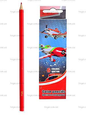 Цветные детские карандаши, 6 штук, PLAB-US1-P-6