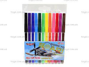 Цветные фломастеры «Летачки», 12 штук, PLBB-US1-1M-12