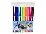 Цветные фломастеры «Летачки», 12 штук, PLBB-US1-1M-12, купить