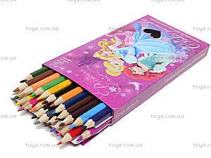 Цветные карандаши «Принцессы Дисней», 24 штуки, PRBB-US1-1P-24