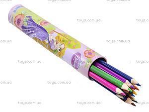 Цветные карандаши с точилкой Princess, P13-055K, купить